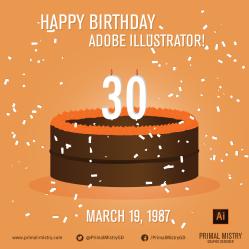 Happy Birthday Illustrator