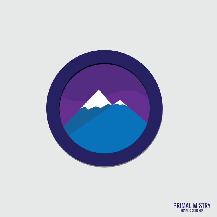 Mountain Badge thing Square