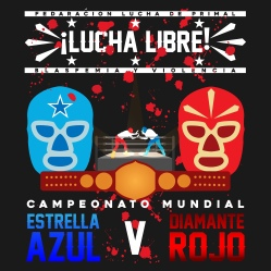 Mexican Wrestling Poster