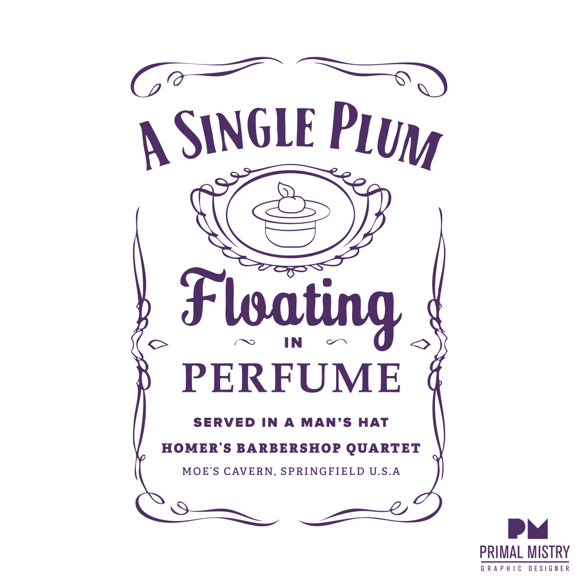 d0c95d34ede Single Plum Floating in Perfume Served in a Man s Hat